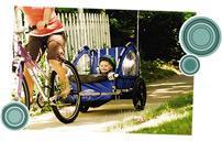 Детские велоприцепы-отдыхаем вместе с детьми